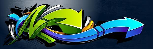 Horizontale Graffiti-Banner