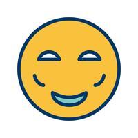 Erröten Sie Emoji-Vektor-Symbol vektor
