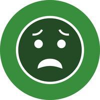 Erschrockene Emoji-Vektor-Ikone vektor