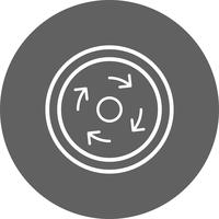Vektor-obligatorisches Karussell-Symbol vektor