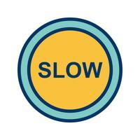 Vektor långsam ikon