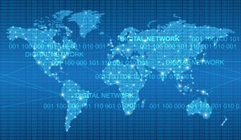 Sömlös karta över det globala nätverkssystemet. vektor