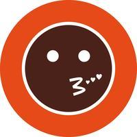 Kyss Emoji Vector Icon