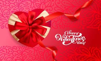 Glückliches Valentinsgruß-Tagestypographie-Vektordesign für Grußkarten und Plakat. Valentinsgrußvektortext auf einem roten Feiertagshintergrund. Design Vorlage Feier Illustration vektor