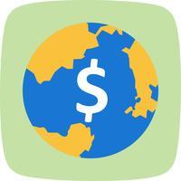Weltgeld-Vektor-Symbol