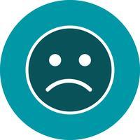 Traurige Emoticon-Vektor-Ikone vektor