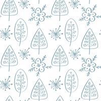 Julvektor sömlöst mönster i skandinavisk stil. Bäst för kudde, typografi design, gardiner vektor