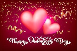 Lycklig Alla hjärtans dag typografi vektor design för gratulationskort och affisch