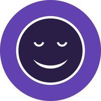 Ruhige Emoji-Vektor-Ikone vektor