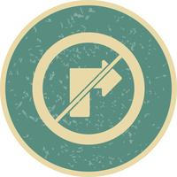 Vector kein Rechts abbiegen Symbol