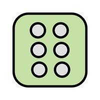 Würfel sechs Vektor Icon