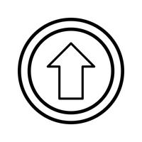 Vektor geradeaus Symbol