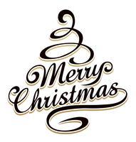 Weihnachtsbaum geformt Typografie