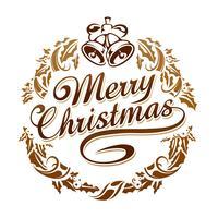 Frohe Weihnachten Typografie vektor