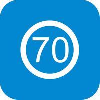 Vektor Hastighetsgräns 70 Ikon