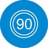 Vektor Hastighetsgräns 90 Ikon