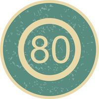 Vektor-Tempolimit 80 Symbol vektor