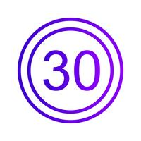 Vektor-Geschwindigkeitslimit 30 Symbol vektor