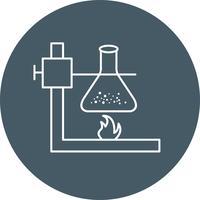 Brand under kolvvektorns ikon vektor