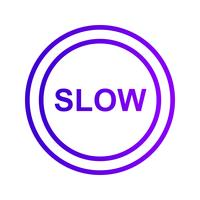 Vektor langsame Ikone
