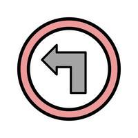 Vektor Biegen Sie nach links ab