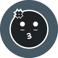 Mädchen Emoji-Vektor-Symbol vektor
