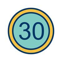 Vektor Hastighetsgräns 30 Ikon