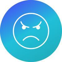 Verärgerte Emoticon-Vektor-Ikone