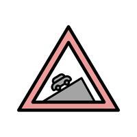 Vektor steiler Aufstieg Symbol
