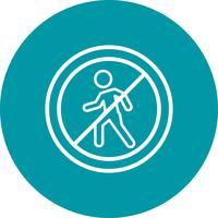 Vektor Kein Eintrag für Fußgänger Icon
