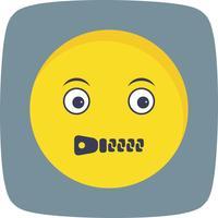 Stumme Emoji-Vektor-Ikone vektor