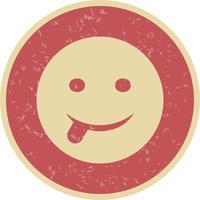 Zunge Emoji-Vektor-Symbol