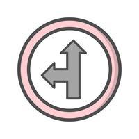 Vektor Gerades oder linkes Symbol