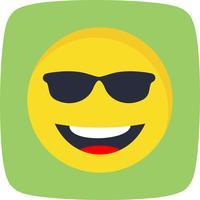 Kühle Emoji-Vektor-Ikone vektor