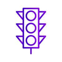 Vektorljus signaler Ikon vektor