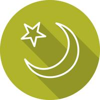 crescent moon vector icon