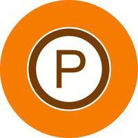 Vektor parkering ikon