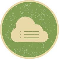moln data vektor ikon
