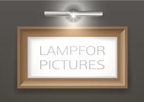 Lampe für ein Bild vektor