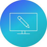 online utbildning vektorikon vektor
