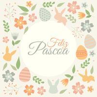 Feliz Pascua Typografie vektor