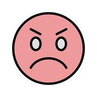 Verärgerte Emoji-Vektor-Ikone