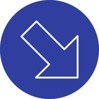 Rechts unten Vektor-Symbol