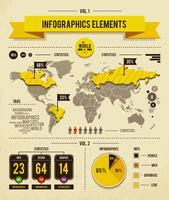 Vektorsatz Infografiken Elemente vektor