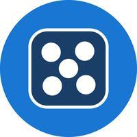 Würfel fünf Vektor Icon