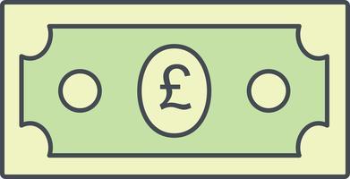Pfund-Vektor-Symbol vektor