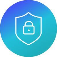 online skydd vektor ikon