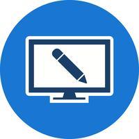 Online-Bildungs-Vektor-Symbol vektor
