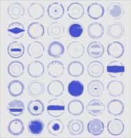 Retro- Sammlung des leeren Schmutzstempels vektor