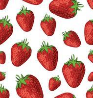 nahtlose Textur von Erdbeeren vektor